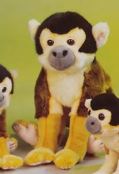 Squirrel Monkey Plush 12.5""